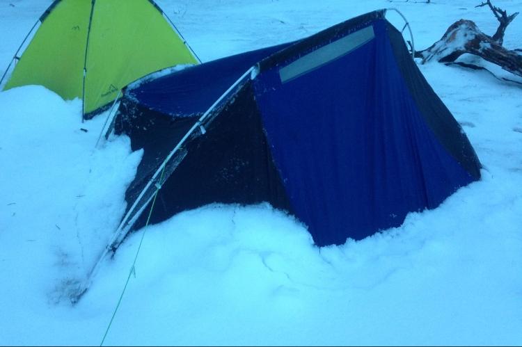 Snowy Tent